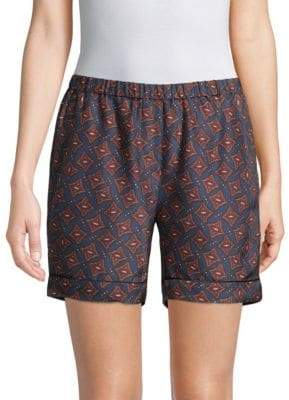 Burberry Printed Silk Shorts