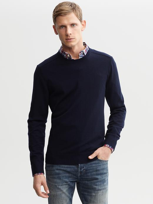Banana Republic Extra-fine merino wool crew-neck sweater