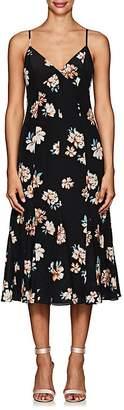 FiveSeventyFive Women's Floral Silk Crêpe De Chine Midi-Dress