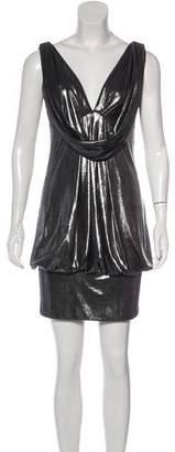 ABS by Allen Schwartz Metallic Mini Dress w/ Tags