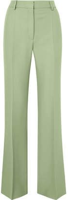 Valentino Silk-blend Crepe Straight-leg Pants - Mint