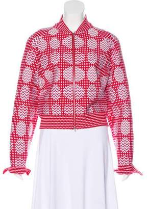 Alaia Patterned Lightweight Jacket