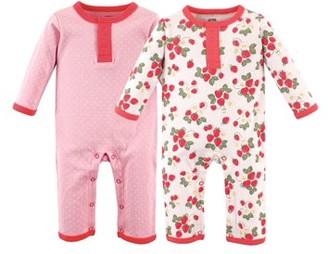 Hudson Baby Girl Coveralls, 2-Pack