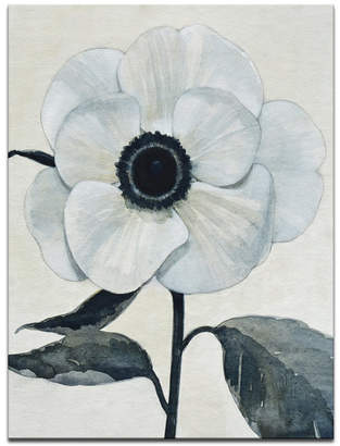 "Ready2hangart 'Elegant Poppy II' White Floral Canvas Wall Art, 30x20"""