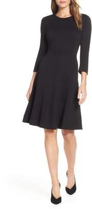 Eliza J Seamed Fit & Flare Dress