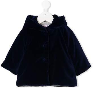 Il Gufo velvet trapeze coat