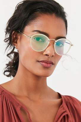 Urban Outfitters Rimless Overlay Round Sunglasses