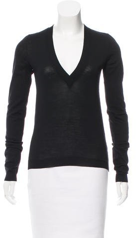 Balenciaga  Balenciaga Wool V-Neck Sweater