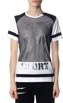 Philipp Plein Stay White And Silver T-shirt