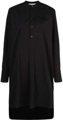 Marni high low hem shirt dress