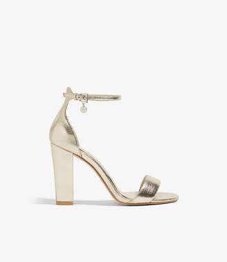 Karen Millen Strappy Metallic Heels