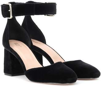 RED Valentino Velvet block heel pumps