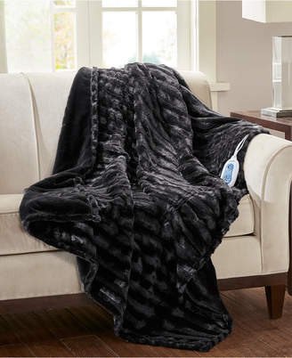 Simmons Duke Faux-Fur Heated Throw Bedding