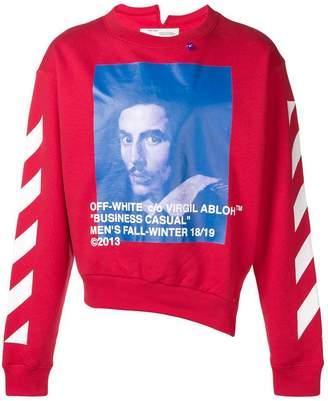 Off-White colour-block print sweatshirt