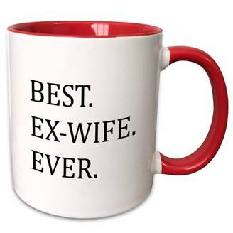 3dRose Best Ex-Wife Ever - Funny gifts for your ex - Good Term Exes - humorous humor fun - Two Tone Red Mug, 11-ounce