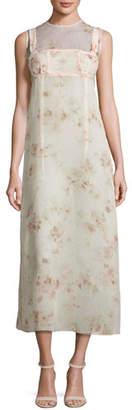 Calvin Klein Collection Sleeveless Floral A-Line Dress, Light Pink