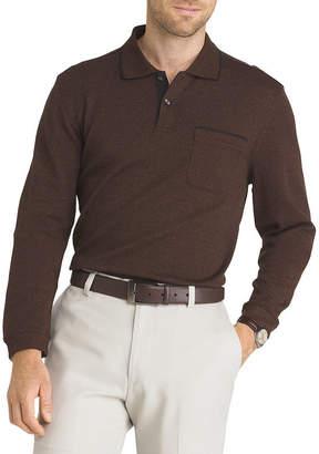 Van Heusen Flex Long Sleeve Polo Knit