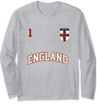 England Soccer Team Long Sleeve Shirt Number 1 (+BACK)