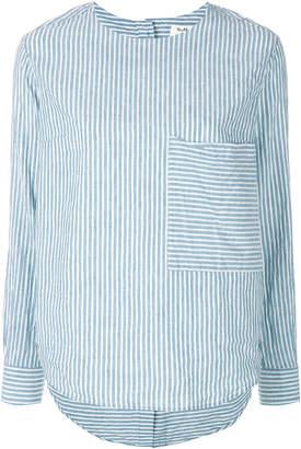 YMC striped long-sleeve blouse
