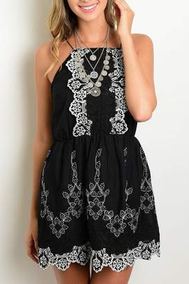 Available Embroidered Strap Dress