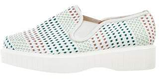 Robert Clergerie Woven Slip-On Sneakers