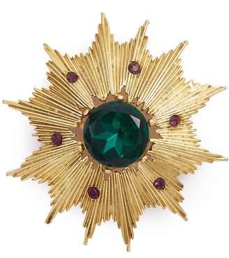 Loren Stazia Gemstone sunburst brooch