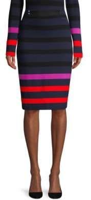 BOSS Ebienne Striped Interlock Skirt