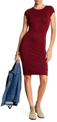 Velvet Torch Cap Sleeve Midi Dress