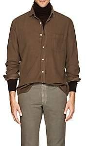 Hartford Men's Cotton Corduroy Shirt-Cream