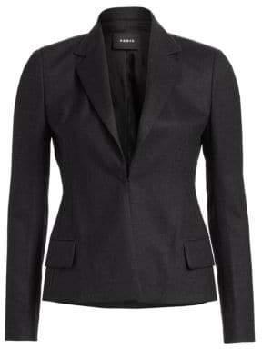 Akris Dayla Wool Flannel Jacket