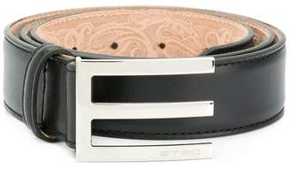 Etro asymmetric buckle belt