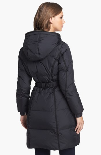 DKNY Hooded Down & Feather Coat with Fleece Insert (Online Only)