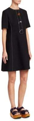 Marni Crepe Wool Button-Front Dress
