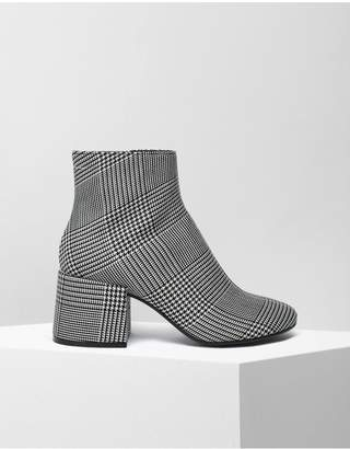 Maison Margiela Checked Ankle Boots