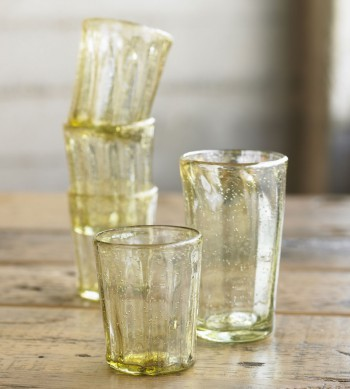 Amber Recycled Glassware