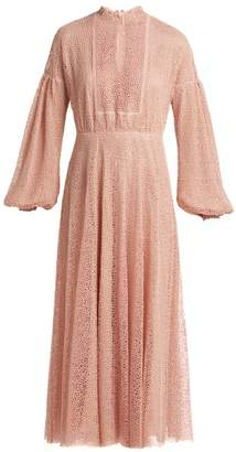 Giambattista Valli Circle Macrame Lace Long Dress - Womens - Pink