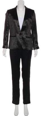 BA&SH Satin Notch-Lapel Pantsuit w/ Tags