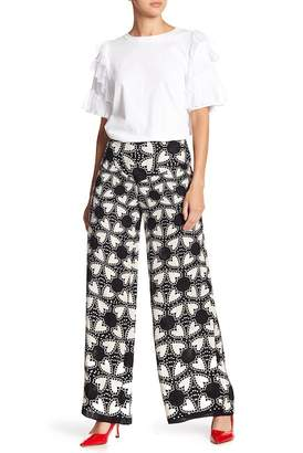 Anna Sui Chasing Hearts Silk Blend Pants