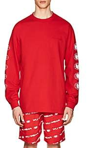 Wu Wear Men's Logo Cotton Jersey T-Shirt-Red