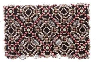 Oscar de la Renta Embellished Evening Clutch