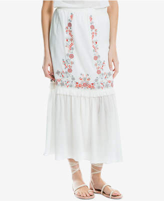 Max Studio London Cotton Embroidered Maxi Skirt, Created for Macy's