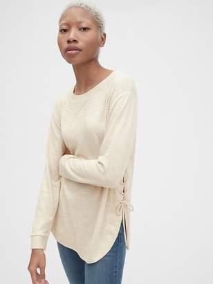 Gap Softspun Long Sleeve Lace-Up Tunic