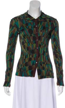 Missoni Long Sleeve Button-Up Blouse