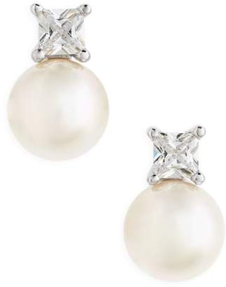 Majorica Pearl & Crystal Earrings
