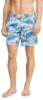 Sundek Floral Swim Shorts with Elastic Waist