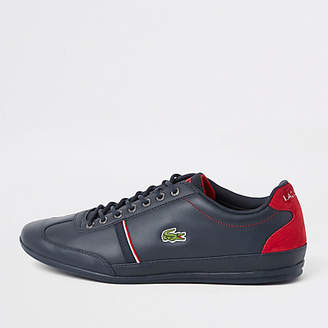 965d8b89570e9 ... at River Island · Lacoste Navy leather tape lace-up trainers exquisite  style 2bb0b fb690 ...