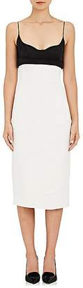Narciso Rodriguez WOMEN'S COLORBLOCKED SLIPDRESS - BLACK/WHITE SIZE 44 IT