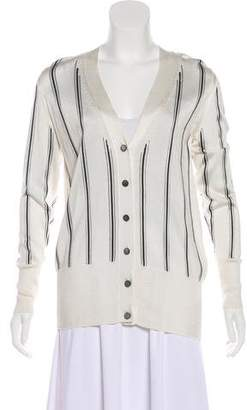 Lanvin Striped Button-Up Cardigan