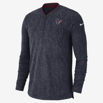 Nike Coach (NFL Texans) Men's Half-Zip Long Sleeve Top