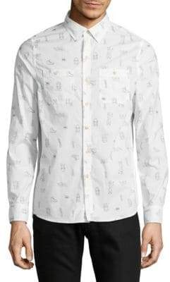 Michael Bastian Camp Print Sport Shirt